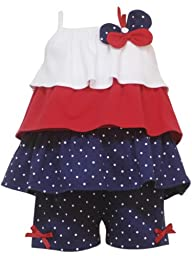 Rare Editions Baby Girls\' Short Set, Navy/Red/White, 24 Months