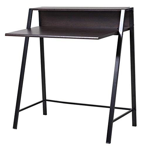 bonVIVO-Schreibtisch-ROXANNE-mit-2x-USB-Port-moderner-Sekretr-im-stilvollen-Mix-aus-Holz-in-Dunkel-Braun-und-eleganten-Stahl-Beinen-in-schwarz