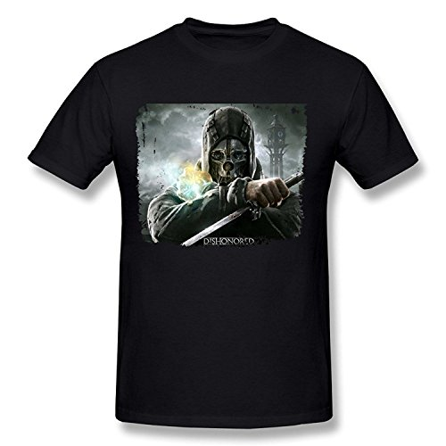 PASSION Men's Dishonored Corvo T-shirt Black XLarge
