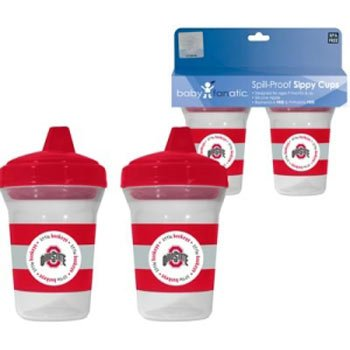 Ohio State Buckeyes Sippy Cup Set back-925387