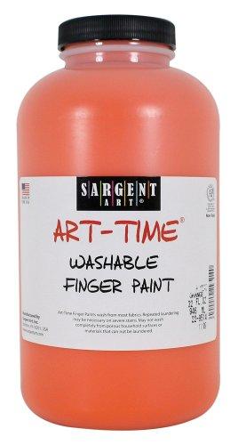 Sargent Art 22-9514 32-Ounce Art Time Washable Finger Paint, Orange