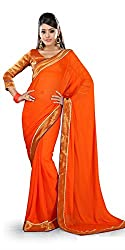 Sangeeta Textiles Chiffon Saree(SAN651-C_Orange)