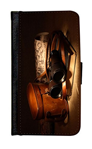 Rikki Knighttm Vintage Old Binoculars With Bag Galaxy S5 Premium Pu Leather Wallet Type Flip Case With Magnetic Flap And Wristlet For Samsung Galaxy S5 I9500
