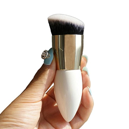 Lookatool Makeup Beauty Cosmetic Face Powder Blush Brush Foundation Brushes Tool (White) (White Face Makeup Powder)