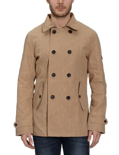 Ben Sherman Men's Short Coat MF00073, Gr. 52 (L), Beige (shore 79V)