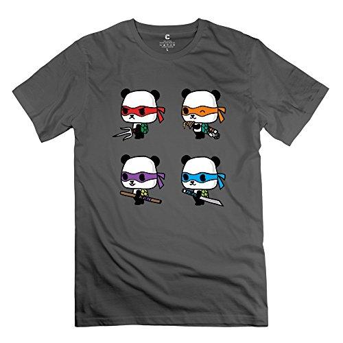 Teenage Mutant Ninja Pandas Boys T-Shirt,Deepheather Crew Neck Shirt Size Xxl