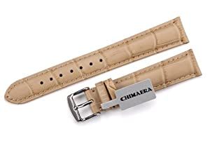 Handcraft!! 18mm Alligator Crocodile Grain Genuine Leather Watch Band Strap & 16mm S/S Tang Buckle for Omega Planet Ocea Seamaster Speedmaster