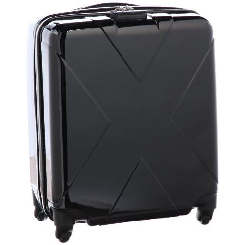 [ヒデオワカマツ] HIDEO WAKAMATSU マックスキャビン TSAジッパーロックスーツケース  85-75281 ブラック×ブラック (ブラック×ブラック)