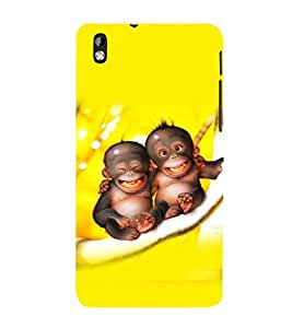 printtech Cute Monkey Babies Back Case Cover for HTC Desire 816G dual sim