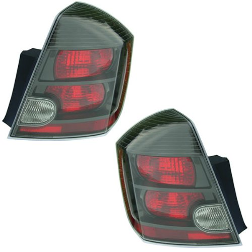2007-2008-2009 Nissan Sentra SE-R & Spec-V 2.5L Taillight Taillamp Rear Brake Tail Light Lamp (Quarter Panel Outer Body Mounted) Pair Set Right Passenger AND Left Driver Side (07 08 09) (2008 Nissan Sentra Ser compare prices)