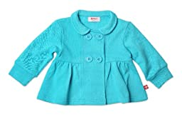 Zutano Terry Bodice Jacket, Pool, 24 Months (18 24months)