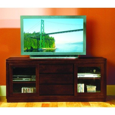 Cheap 8023 Series 64″ TV Stand with Sliding Doors in Dark Cherry (8023-T)