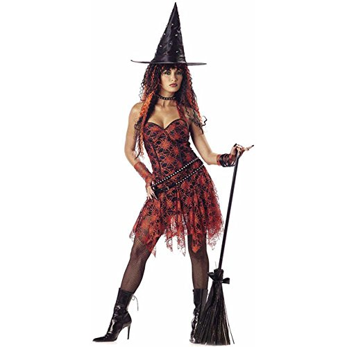 Women's Hot Rockin' Witch Costume (Large 10-12)