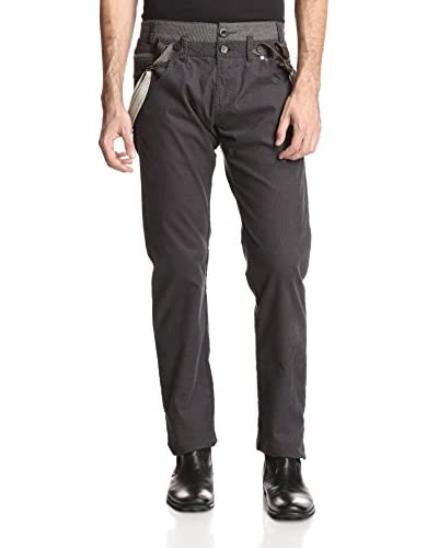 Desigual Men's Casual Pants with Suspenders