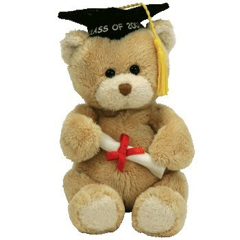 TY Beanie Babies Scholar  - 2007 Graduation Bear with Diploma