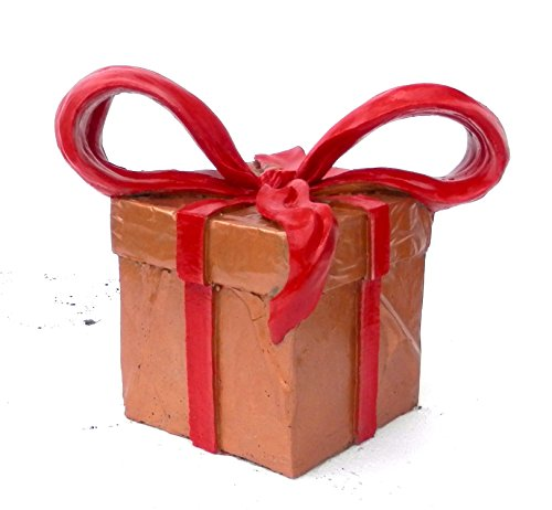 Indoor, Outdoor Decorative Christmas & Holiday Present, Packages, Ribbons, Bows, Hand Sculpted Gifts
