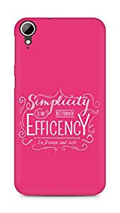 Amez Simplicity is the best form of Efficency Back Cover For HTC Desire 828