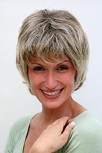 Perücke, grau, kurze Haare, reife Dame 26062-4T220H12