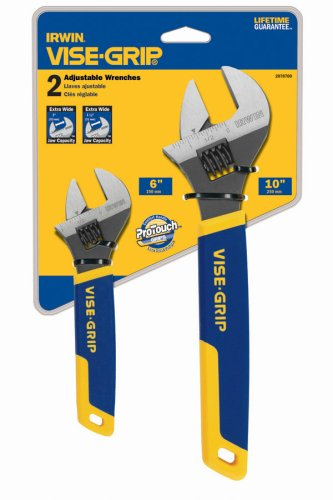 Irwin Industrial Tools 2078700 6-Inch and 10-Inch Adjustable Wrench Set, 2-Piece
