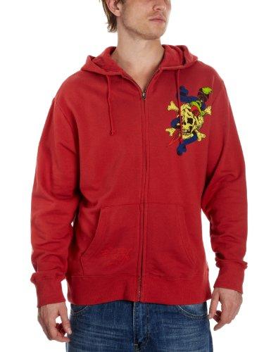 Ed Hardy Basic Dagger Skull Hoodie Men's Sweatshirt Red X-Large