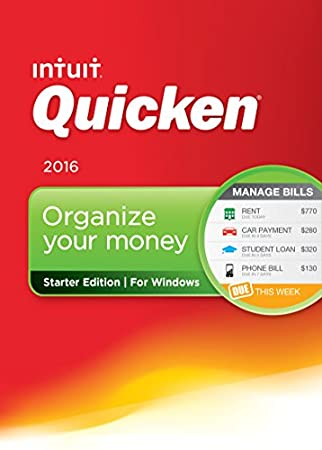 Quicken Starter Edition 2016 Personal Finance & Budgeting Software