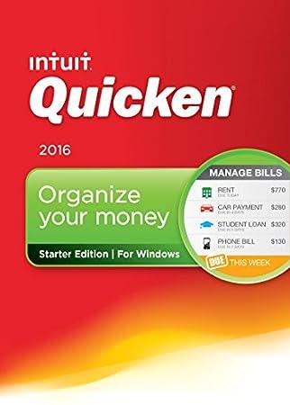 Quicken Starter Edition 2016 Personal Finance & Budgeting Software