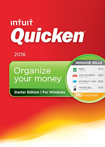 Quicken Starter Edition 2016 Personal Finance & Budgeting Software [Old Version] (Budget Software compare prices)