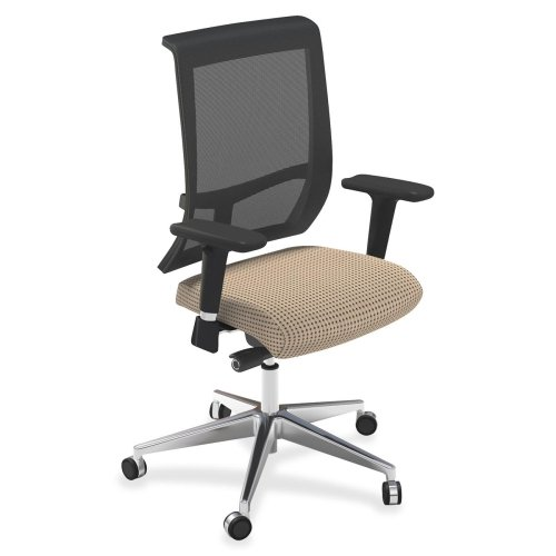 "Mayline Commute Series Mesh Back Chairs-Mesh Back Chairs, 25""x23""x25""x41""-45"",Expo Latte Fabric"