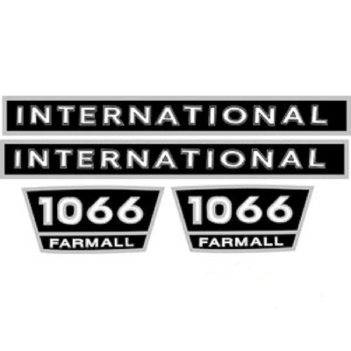 New Hood Decal Fa606S Fits Case Ih 1066