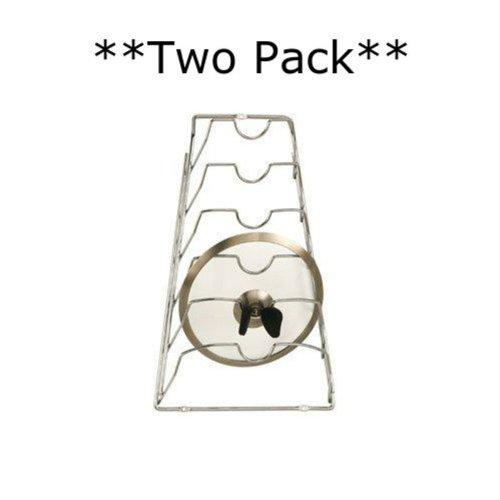 **Set of Two** Cabinet Lid Racks-- Chrome