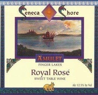 "Nv Seneca Shore Wine Cellars ""Royal Rose"", Finger Lakes, Native Sweet Rose Wine Blend, 750 Ml"