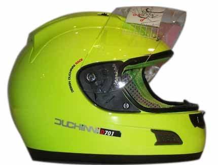 DUCHINI D701 MOTORCYLE MOTORBIKE HELMET NEON YELLOW (2XL)