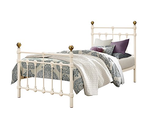 Birlea Atlas 3ft Single Metal Bed, Cream