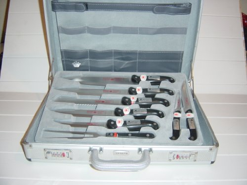 HOFFMAN SOLINGEN 24 PIECE CHEF KNIFE SET WITH ATTACHE CASE