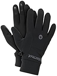 Marmot Men\'s Power Stretch Glove, Black, XX-Large