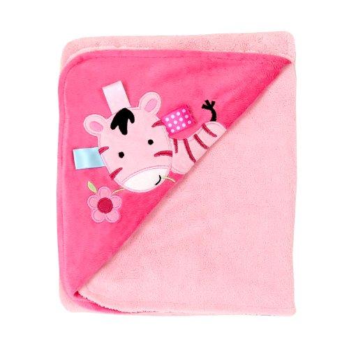 Pink Zebra Baby Blanket front-170038