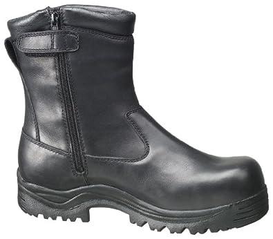 Men's Thorogood Side - Zip Waterproof Oblique Composite Safety Toe Boots Black, BLACK, 9M