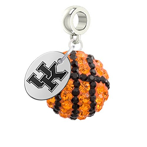 Kentucky Wildcats Basketball Drop Charm Fits All European Style Bracelets
