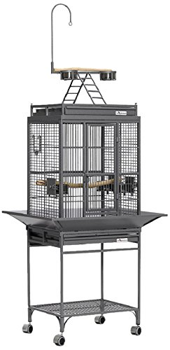 Midwest Homes For Pets Nina Bird Cage-Platinum Play Top front-803000