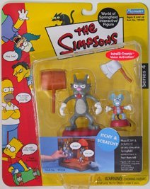 Picture of Playmates Simpsons Series 4 Itchy and Scratchy Action Figure Set (B00005NFAZ) (Playmates Action Figures)