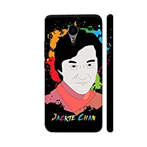 Colorpur Jackie Chan Painting On Black Designer Mobile Phone Case Back Cover For YU Yunicorn | Artist: Designer Chennai