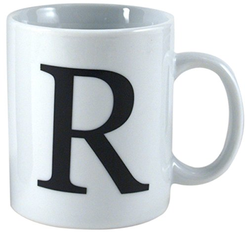 Oneida Porcelain Monogrammed Letter R Mug, Set of 6 (Oneida Coffee Cup compare prices)