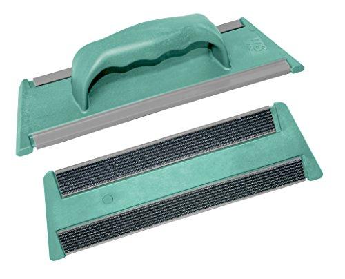 TTS Cleaning 00008702 Attrezzo 30 cm con Sistema Velcro e Impugnatura a Mano, Verde