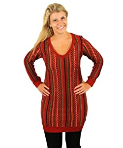 The Christmas Kosby Women's Sweater Dress in Red - Ugly Christmas Sweater