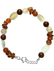 WCJ Silver Chakra Bracelet To Heal Fertility