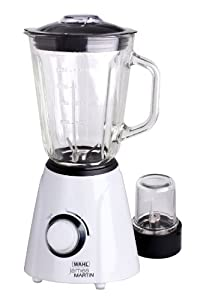 James Martin by Wahl ZX841 Table Blender and Grinder, 1.5 Litre, 500 Watt, White/ Black