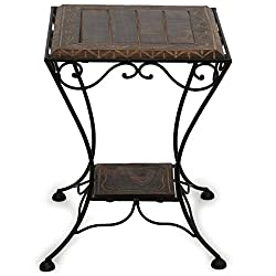 Crafts A to Z Wooden & Wrought Iron Stool/Chair
