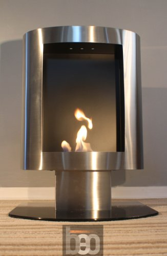 BeoFires 'BEO Classic Stainless Steel' Premium Bioethanol Flueless Fireplace