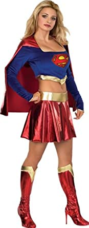 Angels Fancy Dress Female Supergirl Costume, Size Extra Small (X-Small)