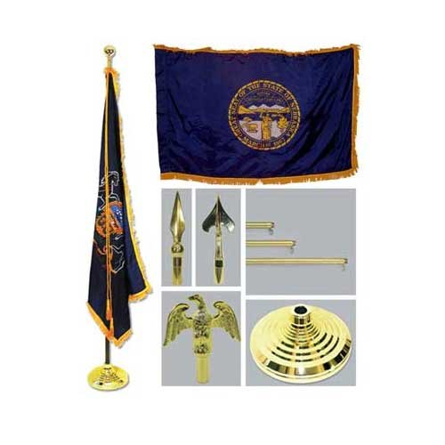 Nebraska 4Ft X 6Ft Flag Telescoping Flagpole Base And Tassel